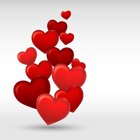 sweet heart: Stylish red valentine day heart background