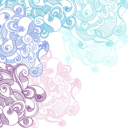 Abstract Waves Background   Hand drawn illustration  Illustration