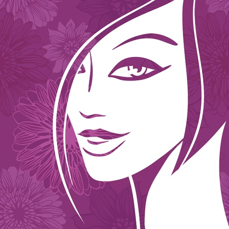 Abstract girl portrait  Beautiful woman  Vector
