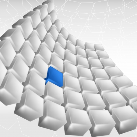 corporate building: Abstract background of cubes in blue toned   Illustration