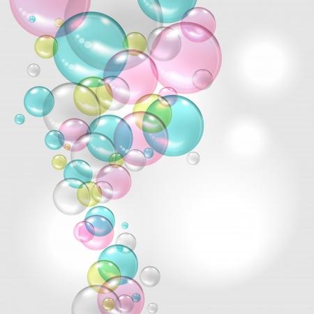 Astratto a colori con trasparente Vector background bolle