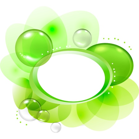 Color abstract with transparent bubbles and drops Stock Vector - 14565883