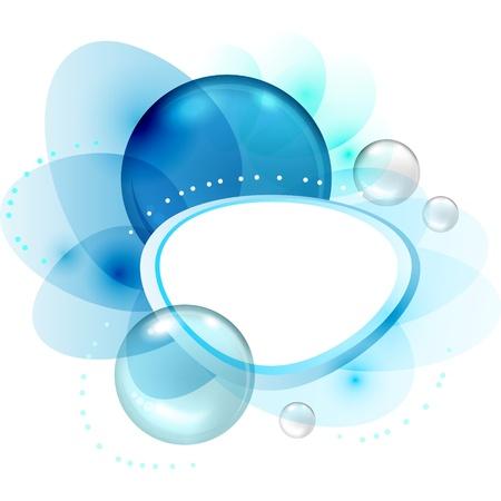 splash color: Astratto colore con le bolle trasparenti e gocce Vettoriali