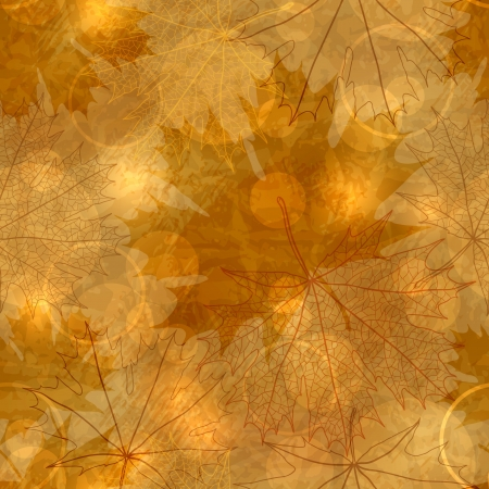 old paper texture: Seamless pattern - Autumnal leaves