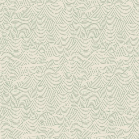 wall paper texture: Seamless wave hand drawn pattern  Abstract vintage background
