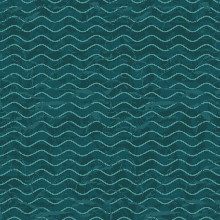 Seamless wave hand drawn pattern  Abstract vintage background  Vector