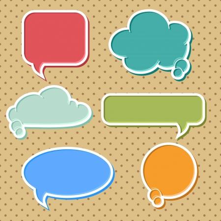 dialogo: Colecci�n de burbujas coloridas del discurso y globos de di�logo