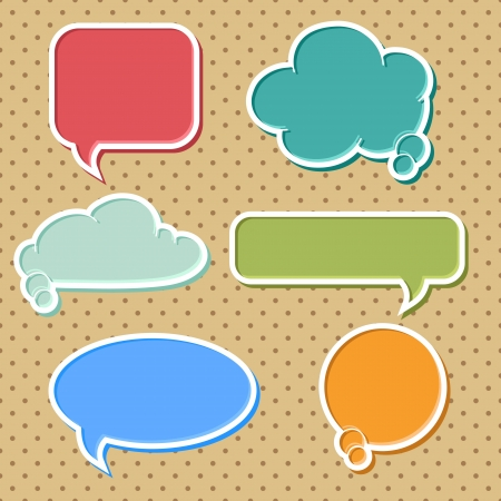 dialog balloon: Collection of colorful speech bubbles and dialog balloons