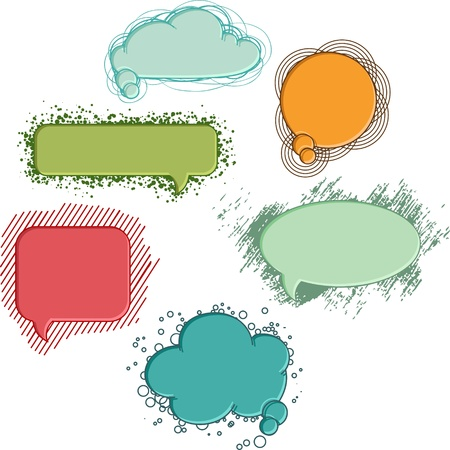 Collection of colorful speech bubbles and dialog balloons Vector