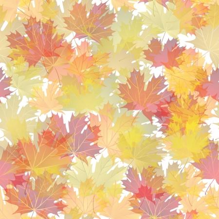 Hojas de otoño de fondo sin fisuras