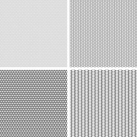 square detail: Fondo de encaje antiguo, juego de 4 seamless pattern