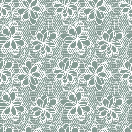 Old lace background, ornamental flowers   Vector