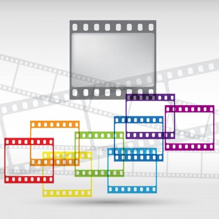 filmnegativ: Abstrakter Hintergrund mit einem Filmstreifen