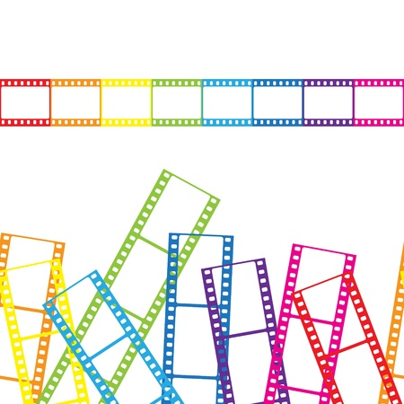 Abstract background with a film strip Stock Vector - 14829102