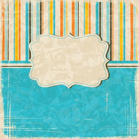 bordure de page: Fond rayures vintage avec place pour le texte