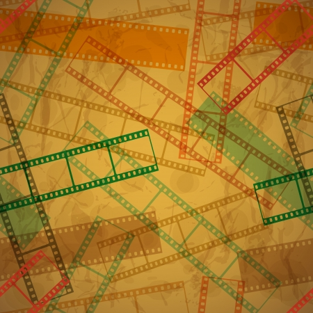 Vintage background with film frame  Seamless illustration  Vector