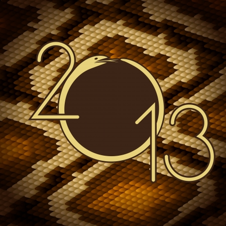 2013 design  Python snake skin brown background  Vector