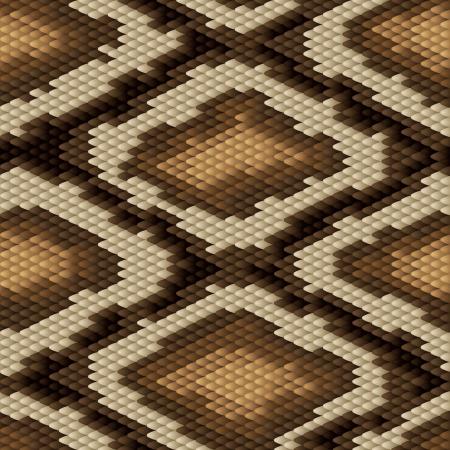 dark skin: Seamless modello di pelle di serpente pitone Vettoriali