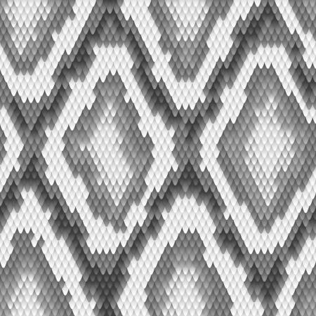 serpiente de cascabel: Seamless piel python serpiente patrón Ilustración vectorial