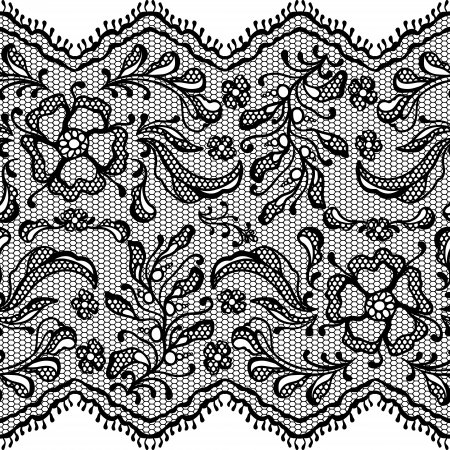 Vintage lace background, ornamental flowers Vector