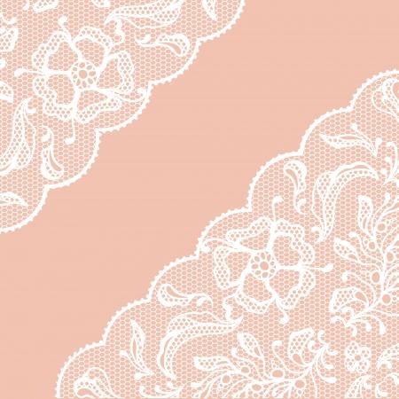 eleganz: Vintage lace Rahmen, Zierpflanzen Illustration