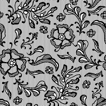 lace pattern: Vintage lace background, ornamental flowers Illustration