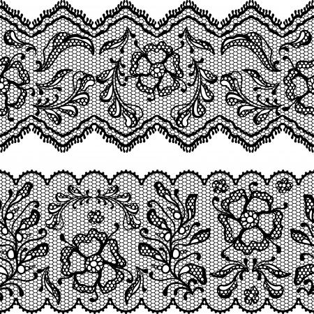 lace border: Vintage lace background, ornamental flowers Illustration