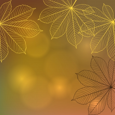 Background with falling autumn leaves Vector