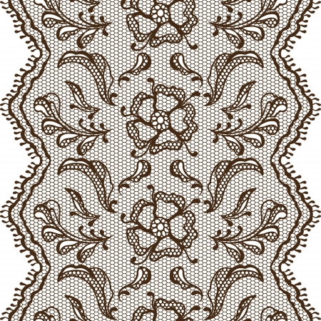 brown clothes: Vintage lace background, ornamental flower