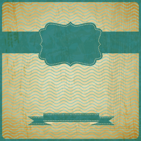 EPS10 vintage grunge old card   Background with place for text  Vector