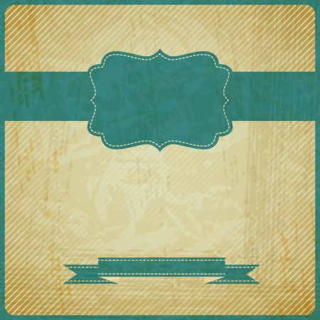 vintage grunge old card   Background with place for text  Vector