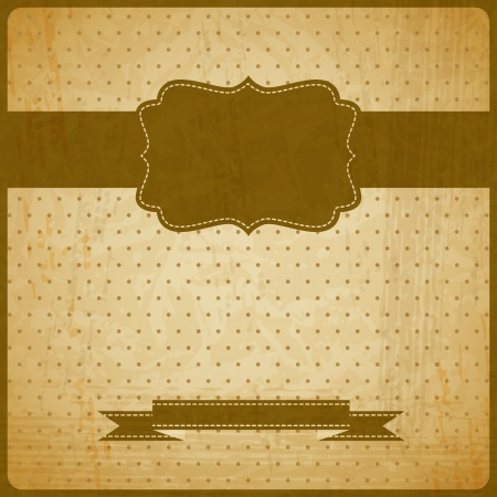 scratch card:  vintage grunge old card   Background with place for text  Illustration