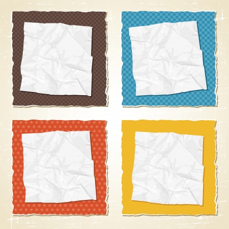 fragmentary: Papel rasgado rasgu�o textura vector vendimia fondo