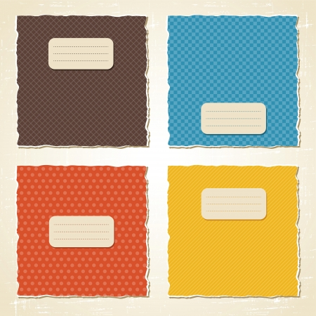 paper graphic: Torn scratch paper vintage background  Vector texture