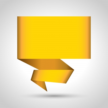 Abstract origami speech bubble vector background   Vector