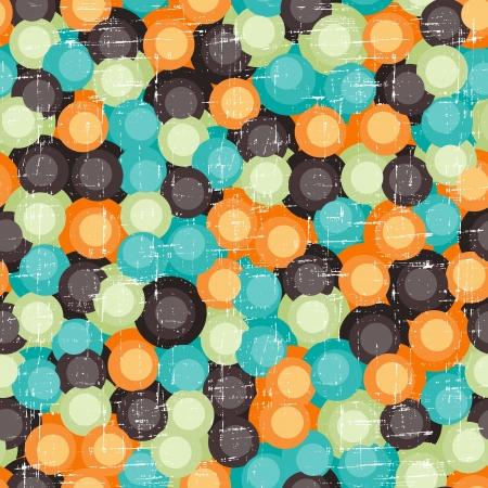 symmetry: Seamless abstract retro pattern  Stylish geometric background