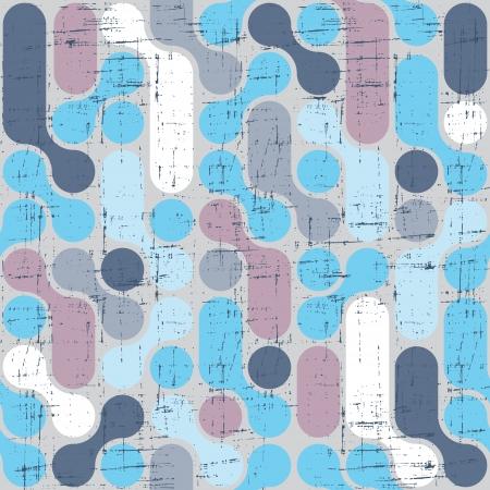 Seamless abstract retro pattern  Stylish geometric background