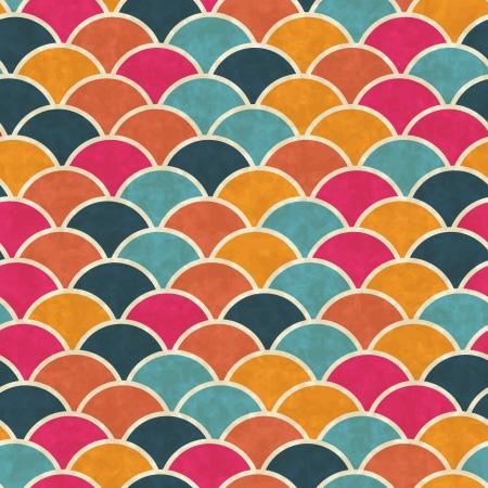 Seamless retro geometric pattern Stock Vector - 14920886
