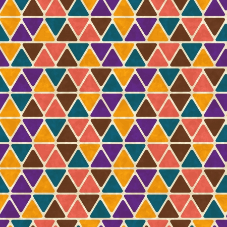 Seamless retro geometric pattern Stock Vector - 14920893