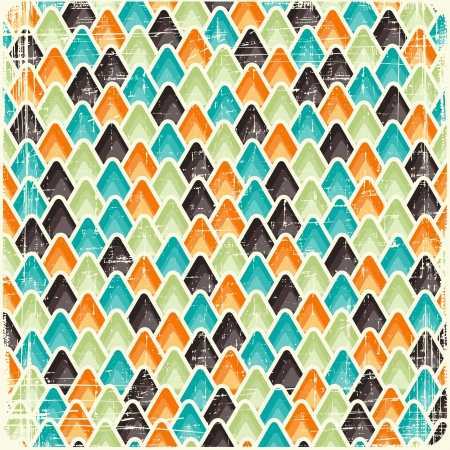 Abstract retro geometric scratched background  Vector