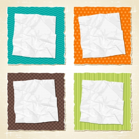 Torn scratch paper vintage background  Vector texture  Vector