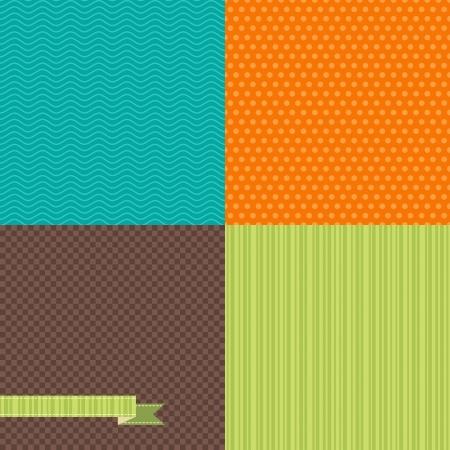 tiling background: Seamless abstract retro pattern  Stylish geometric background