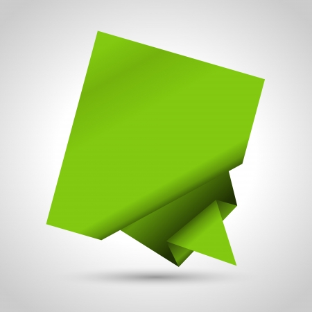 origami banner: Abstract origami speech bubble background