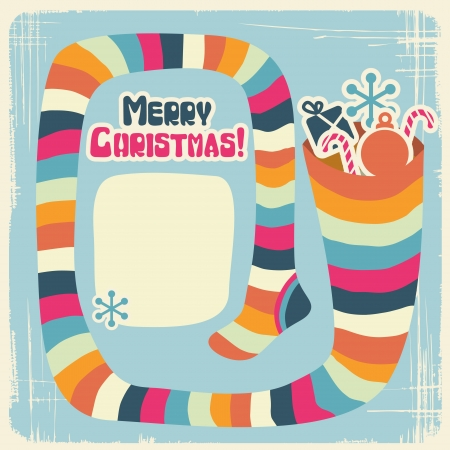Christmas background with funny socks for gifts  Vector