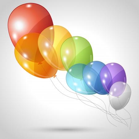 globos de cumpleaños: Elegante fondo con globos que vuelan