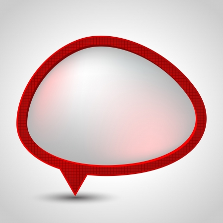 Abstract speech bubble background   Vector