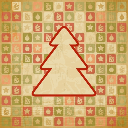 vintage Christmas background in retro style  Vector
