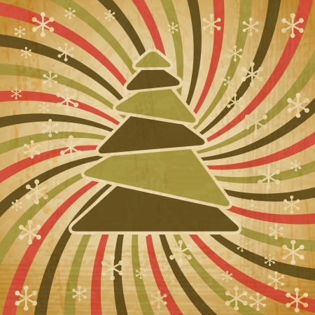 ripped paper: vintage Christmas background in retro style