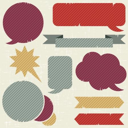 Collection of retro speech bubbles and dialog balloons Stock Vector - 15100385