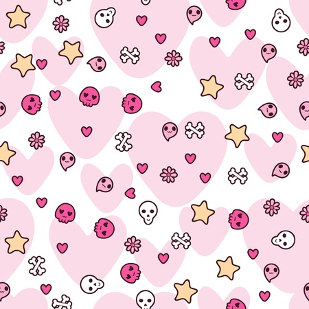 Seamless pattern with doodle  kawaii illustration Stock Vector - 15126234